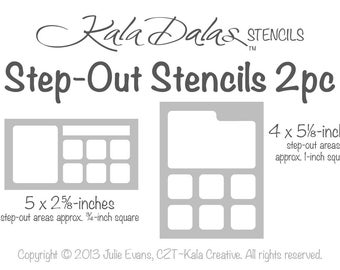 NEW for Tanglers - Step-Out Stencils 2pc