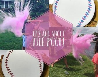 BASEBALL Gender Reveal Baseballs : Baseball Gender Reveal Balls Pack (Custom Color Combinations and Styles) Gender Reveal Baseball