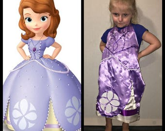 Sofia the First Inspired Dress Up Apron