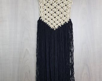 Macrame wall - Black - medium model