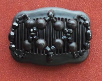 02 beaded elasticized double hair comb