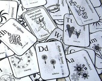 FESTEGGIAMENTO Italian Language Flashcards - Set of 27