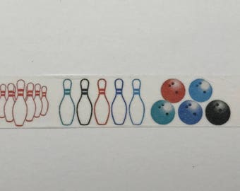 "Bowling Washi Tape 24"" Sample"