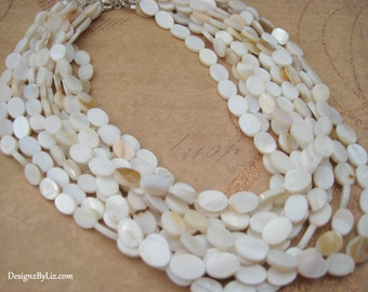 The Belle Island, multistrand pear necklace