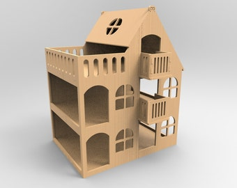 Doll House - cnc laser cutting file / Vector model for laser cut