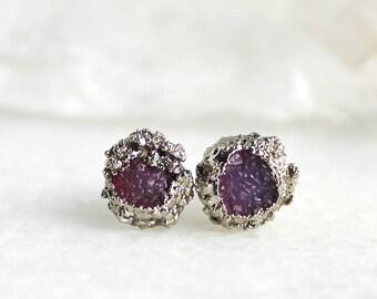 HUGE SALE druzy earrings, silver earrings, druzy, gemstone earrings, druzy jewelry, silver druzy earrings, sterling silver earrings, dainty