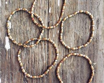 Beaded bracelet - stretch beaded bracelet - boho bracelet - stacking bracelet - charm bracelet