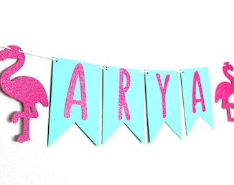 Custom Flamingo Banner - Personalized Flamingo Banner -  Let's Flamingle Party Decor - Flamingo Party Decor - Flamingo Banner