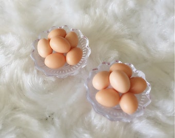 Miniature Eggs in bowl,Dolls and Miniature,Dolls house,Miniature Eggs,Small Eggs,Miniature food,Miniature Accessories,Easter,Eggs,gifts,DIY