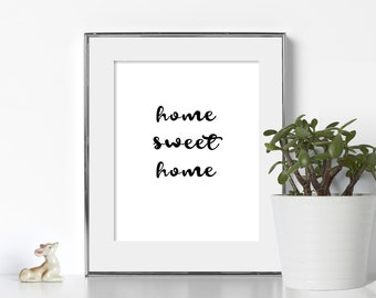 Home Sweet Home Printable Home Sweet Home Digital Download Gift for Couple Gift Long Distance Couple Wedding Gift Home Sweet Home Printable