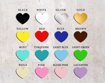 Painted hearts for any listing (Frame guest book, Mason jar guest book, Heart guest book)
