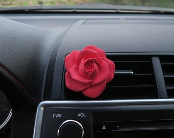 Car Air Freshener [Rose] Car Accessories l Birthday Gift l Baby Shower l Wedding Favors l Bridal Shower l Bridesmaid Gift l Gift For Her