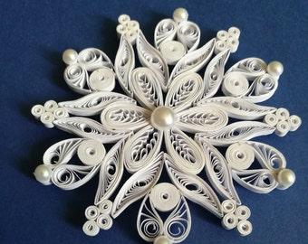 Snowflake, Quilling snowflake, Christmas ornament