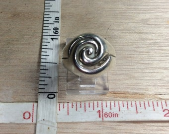 Vintage 925 Sterling Silver 6.1g Spiral Design Ring Size 6 Used