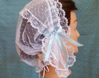Lacy Daycap with short lappets