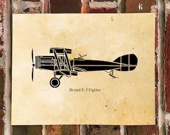KillerBeeMoto: Limited Print Bristol F2B Fighter Aircraft WWI Biplane Aircraft Print 1 of 100