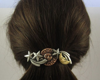 Celestial French Barrette 80MM- Celestial Jewelry- Hair Barrette- Hair Accessory- French Clips
