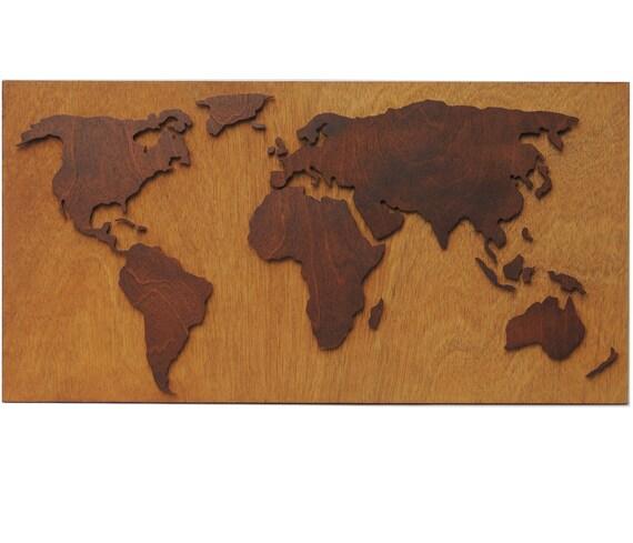3d abstrait mappemonde avec d coration murale bois de d coupe. Black Bedroom Furniture Sets. Home Design Ideas