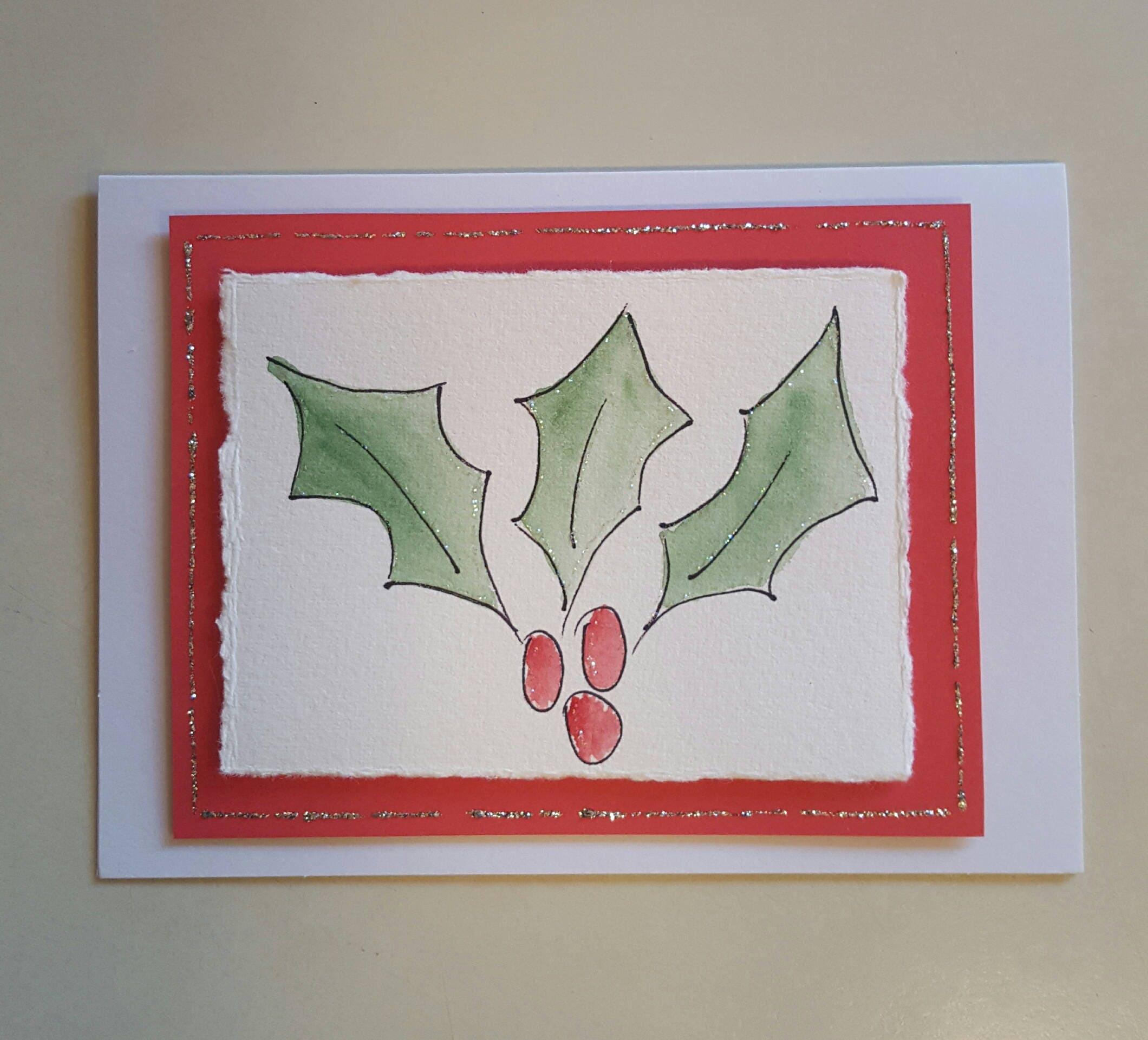 Christmas Cards-Hand painted-original art