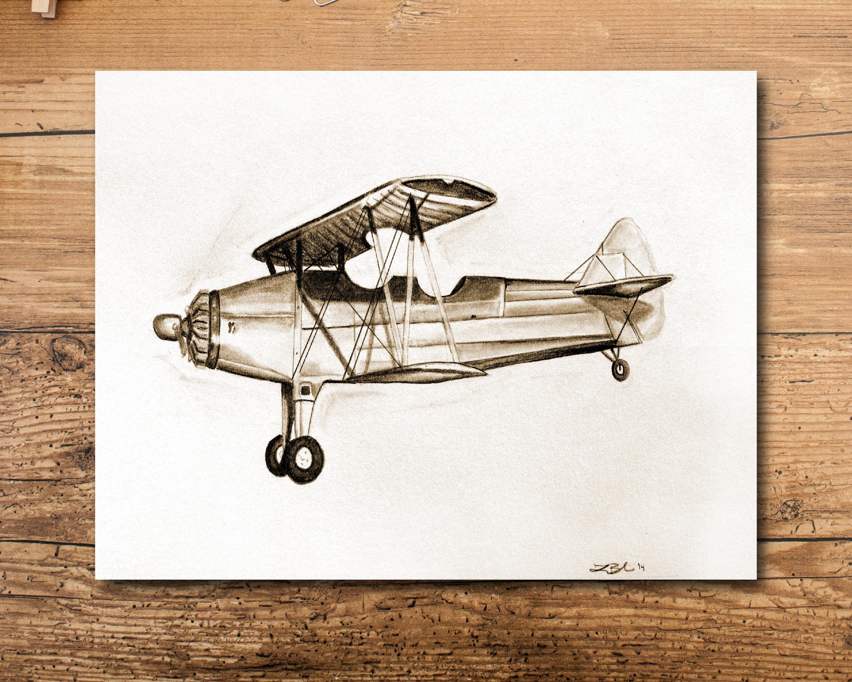 product boeing aircraft gift blueprint pilot airplane decor poster patent aviation art