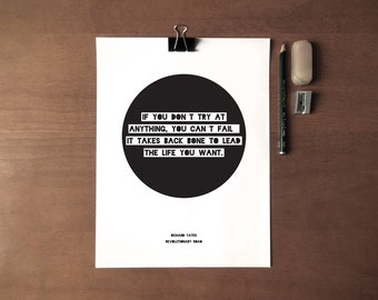 Literary Quote - Richard Yates - Instant Download - 8x10 - 11x14 - Printable art - Simple - Typography - Circle -  Quote - Home Decor