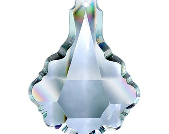 ONE Clear 89mm Pendalogue Asfour Lead Crystal Chandelier Prism Suncatcher Pendants #902