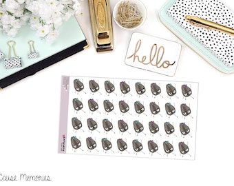 """SAMMIE SNARK SEED: """"Yoga Seed"""" Paper Planner Stickers"""