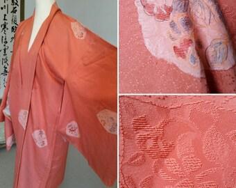 Vintage long Haori  / Silk Kimono coat / Kimono summer jacket / Silk jacket / Silk jacket / Vintage jacket / Haori