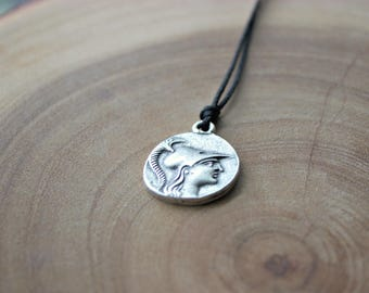 Greek Roman Style Medal Necklace/ Roman Medal Necklace