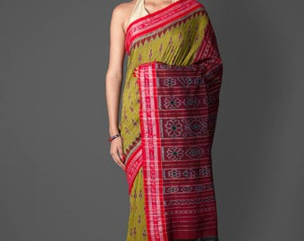 Sambalpuri Orissa Cotton Silk Saree