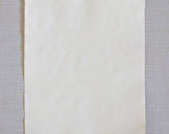 Deckle edge paper sheet, handmade cotton paper, letter size