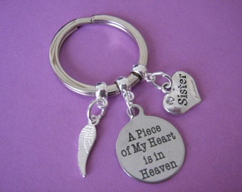 Sister Bereavement Keyring In Memory of a Sister Gift In Sympathy of Sister Loss Keychain