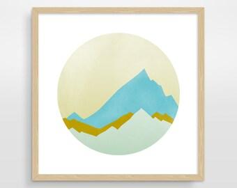 Large Wall Art, Abstract Print, Scandinavian Art, Mountain Art, Mid Century Modern Art, Minimalist Art, Abstract Landscape, Abstract Art