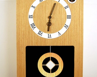 """Cuckoo Clock,Modern Cuckoo Clock 40 х 26 cm-15.7""""x10.2"""",veneer oak"""