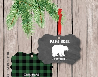 Christmas Ornament for Dad, Ornament for Daddy, Ornament from Kids, Best Daddy Ever Ornament, Best Dad Ornament, Gift for Dad, Papa Bear