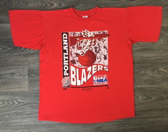 Portland Trail Blazers T Shirt Vintage 90s 1992 NBA Finals Made In USA Mens Size XL 4LSprRVT