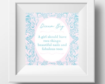 Nails Quote Print Incl. Frame!