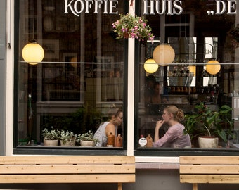 Extra Large Wall Art-Cafe Culture Amsterdam-Koffie Huis-A Coffee House Cafe-De Jordaan Neighborhood-Travel Photography
