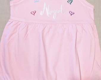 Baby Girl Dress - Custom Baby Dress  - Baby Girl Clothes - Baby Dress - Baby Girl Monogram  - Cute Baby Clothes - Dress with Name