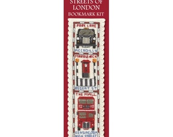 Streets of London Bookmark Counted Cross Stitch Kit Textile Heritage