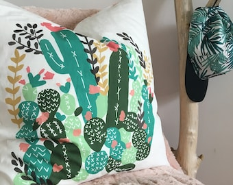 "Cactus cover pillow decorative cushion case 20"" x 20"""