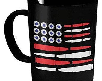 Ammo Coffee Mug,  Ammo Flag, Ammo Flag Mug, ammo mug, mug ammo, ammo gifts, ammo gifts for men, ammo novelty gifts