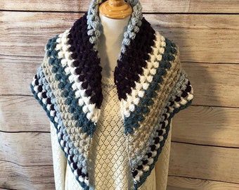 Striped Crochet Wrap