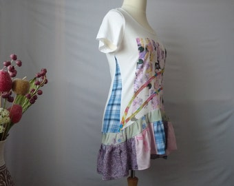 Upcycled clothing for women Bohemian clothing Hippie clothing Boho clothes Upcycled tunic tops for women Recycled clothes Upcycled tunic top