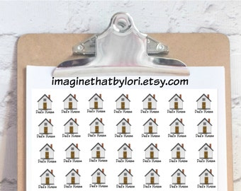 Dad's house planner stickers
