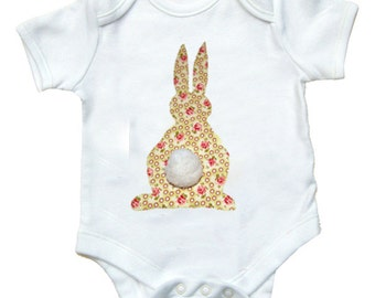 Rabbit Babygro / Girls Bodysuit / Bunny Baby Shirt  / Kids Easter Gift / Baby Clothes