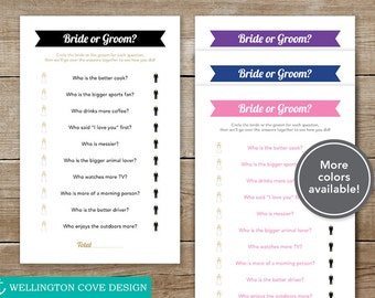 Printable Bridal Shower Game • He Said She Said • Bride or Groom • Digital Instant Download • Bachelorette Party / Engagement • Downloadable