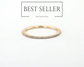 Diamond Eternity Ring in 14k Rose Gold / Full Eternity Ring / Mothers Day Gift