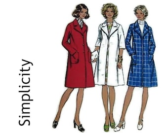 Vintage 70's Sewing Pattern - 1970s Womens Coat - Winter or Evening Wear - Simplicity Pattern 5526 Miss Size 20 Bust 106.5 cm