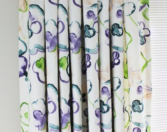 Vervain Santenay Custom Drapes (Shown in Orchid - comes in 4 colors)